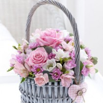 Baby Girl Basket Arrangement