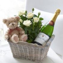 Celebratory Baby Boy Gift Basket