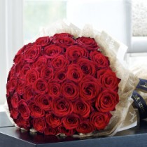 Luxury 50 Grand Prix Rose Hand-tied