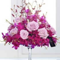 Luxury Orchid and Rose Arrangement