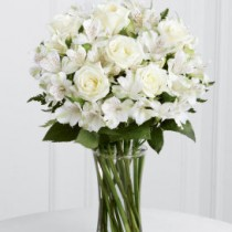 White Rose and Alstroemeria Vase