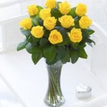 Yellow Elegant Vase